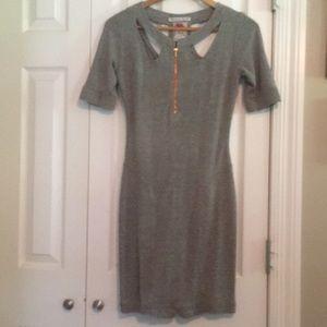 Anthro brand Yoana Baraschi Grey Body con dress